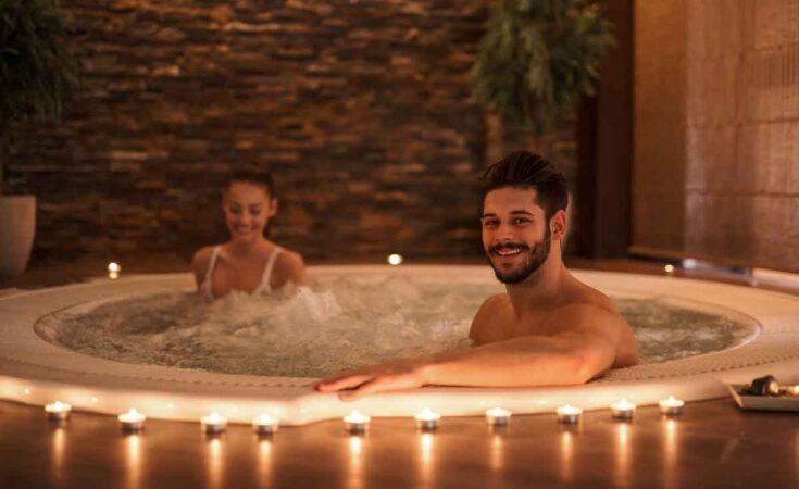 romantisch in de hottub